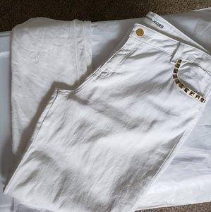 Plus Woman's Micheal Kors White Stretch Jeans:14